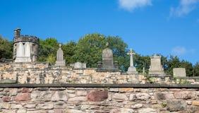 Old cemetery in  Edinburgh, Scotland. Stock Photos