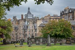 Old cemetery in  Edinburgh, Scotland. Stock Images