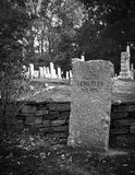 Old cemetery in fall. In black and white Stock Photography