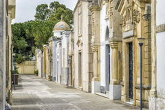 Old cemetery with family graves in Italy. Old cemetery with family graves in Brindisi, Italy Stock Photography