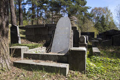 Old cemetery. Old Finnish cemetery in Sortavala, Karelia Stock Photo