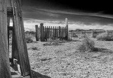 Old cemetery, Fort Churchill, Nevada Royalty Free Stock Photography