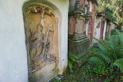 Old cemetery in Freiburg im Breisgau Stock Photos