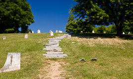 Old cemetery in Harpers Ferry Royalty Free Stock Images