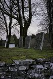 Old cemetery located at Hyssna old church in Sweden royalty free stock photos