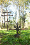 Old cemetery at Jaworzec in Bieszczady mountains Royalty Free Stock Photography
