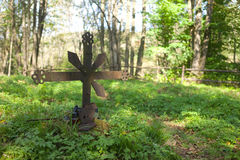Old cemetery at Jaworzec in Bieszczady mountains Stock Photography