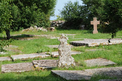 Old cemetery of Kalla around the church Royalty Free Stock Photography