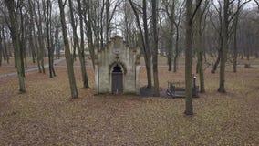 Old Cemetery Lielie Kapi Riga Latvia city aerial drone view 4K UHD video stock video