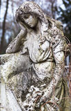 Old cemetery marble sculpture of the angel Stock Photo