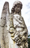 Old cemetery marble sculpture of the angel Royalty Free Stock Images
