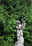 Old cemetery marble sculpture of the angel.  Royalty Free Stock Images