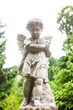 Old cemetery marble sculpture of the angel stock images