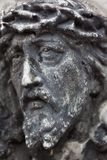 Old cemetery marble sculpture of Jesus Christ Stock Image