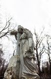 Old cemetery marble sculpture of the woman Royalty Free Stock Photos