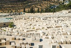 Old cemetery on Mount of Olives in Jerusalem Royalty Free Stock Image
