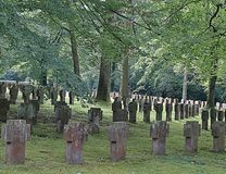 Old cemetery in stuttgart in Germany royalty free stock photos