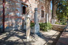 Old cemetery near the Esref mosque in Iznik, Turkey Stock Photos