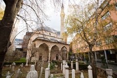 Old cemetery near the Ferhadija mosque in the center of Sarajevo Stock Photography