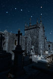 Old cemetery at night Royalty Free Stock Images