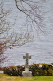 Last sea view. Old cemetery with overwhelming sea view Royalty Free Stock Image