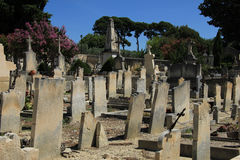 Old cemetery in the Provence Stock Photos
