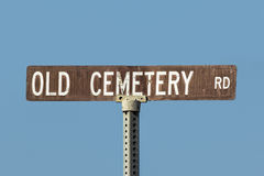 Old Cemetery Road Sign Royalty Free Stock Photography