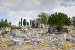 Old cemetery in Sevastopol Stock Photography