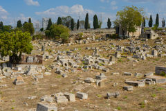 Old cemetery in Sevastopol Royalty Free Stock Photography