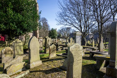Old cemetery at St Machar`s cathedral in Aberdeen Royalty Free Stock Images