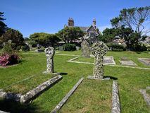 Cemetery at St Michael`s Mount royalty free stock photo