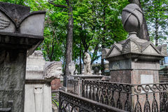 Old cemetery in St. Petersburg. The most famous and the oldest cemetery in Petersburg. Old cemetery monuments and crypts. Lazarevskoe cemetery in St stock photography