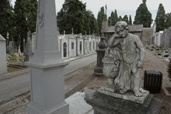Old cemetery statue Royalty Free Stock Images