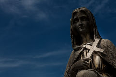 Old cemetery statue Stock Photography