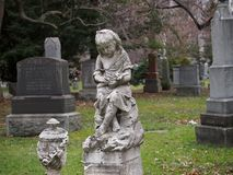 Old cemetery statue Stock Images
