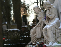 Old cemetery with statues Stock Image