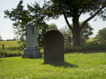 Old Cemetery Stone and Wood Grave Royalty Free Stock Photography