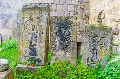 The old cemetery of Tatev Monastery Royalty Free Stock Images