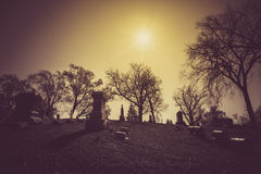 Old cemetery - vintage look Royalty Free Stock Image