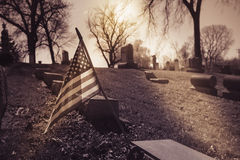 Old cemetery - vintage look Royalty Free Stock Images
