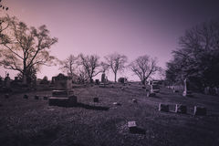 Old cemetery - vintage look Royalty Free Stock Photography