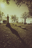 Old cemetery - vintage look Royalty Free Stock Photo