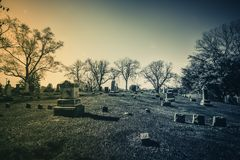 Old cemetery - vintage look Stock Photography