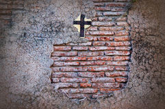 Old cemetery wall. Royalty Free Stock Photography
