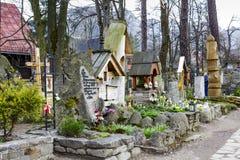 Old cemetery in Zakopane, Poland Stock Images