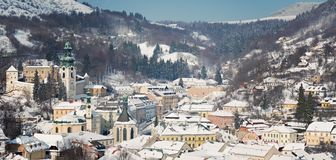 Old center of Banska Stiavnica Stock Images