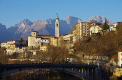 The old center of Belluno among the Dolomites. Royalty Free Stock Photo