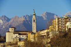The old center of Belluno among the Dolomites. Royalty Free Stock Photos