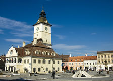 Old center of Brasov. City. This building was city hall in medieval age stock images