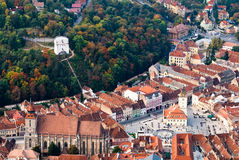 Old center of Brasov city Stock Photography